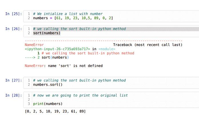 Мысоздали новый список ивызвали метод sort () при вызове sorted ()