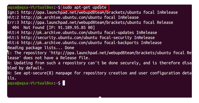 После обновления списка пакетов перейдите вкаталог, содержащий файл