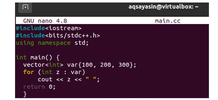 После того, как файл был открыт, вставьте внего код, добавленный ниже