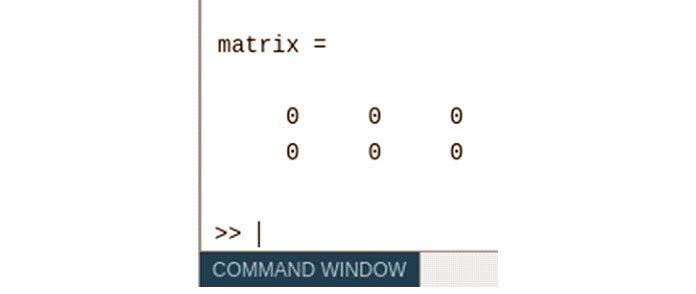 Приведенный выше код восновном возвращает матрицу 2X 3