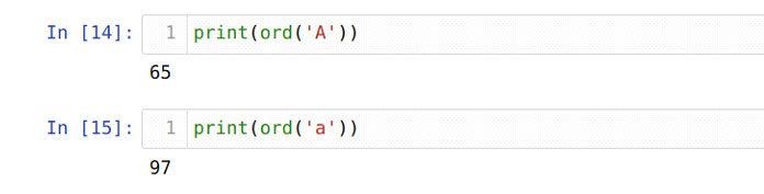 Python использует код Unicode для определения первого символа строки