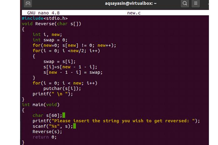 Сначала скомпилируйте код спомощью запроса gcc, как показано ниже
