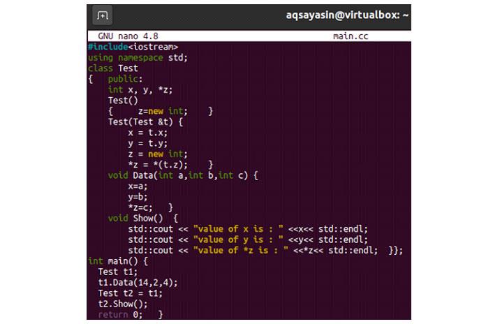 Вэтом примере весь код тотже, снебольшими изменениями