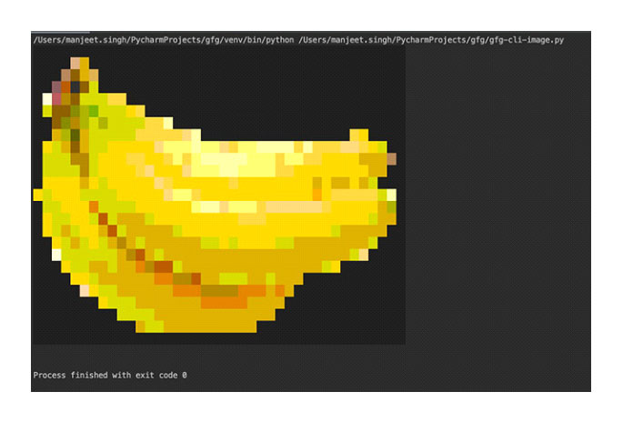 converts the image to print in terminal