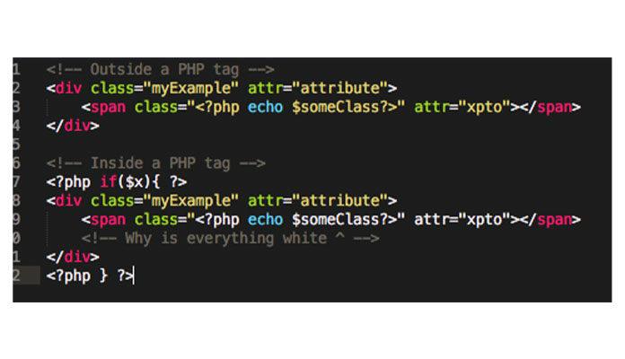 подсветку синтаксиса HTML