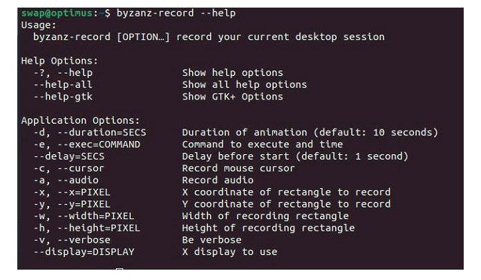 Byzanz является частью проекта GNOME