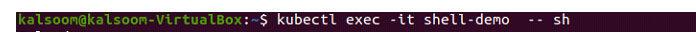Для этого мыиспользуем модуль «shell-demo»