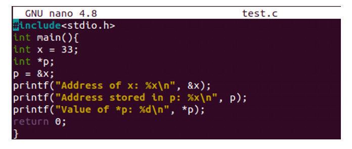Добавьте приведенный ниже сценарий всвой файл кода C