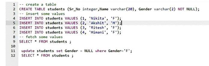 Если выустановили ограничение, что конкретное значение столбца неможет быть NULL
