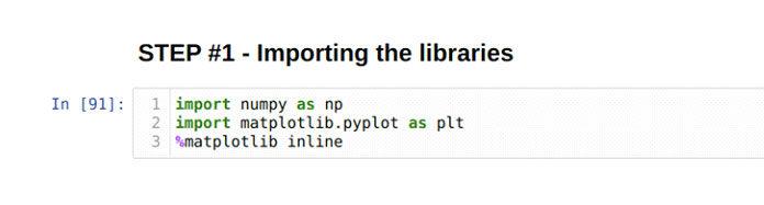 Импортируйте всю необходимую библиотеку ипакеты для запуска этой программы