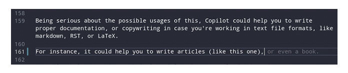 Например, это может помочь вам написать статьи
