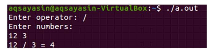Пользователь добавил знак «» идва числа при первом выполнении