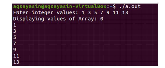 После того, как код был скомпилирован, выполните запрос, показанный ниже