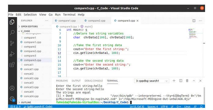 После выполнения кода для обоих входных значений дается строковое значение hello