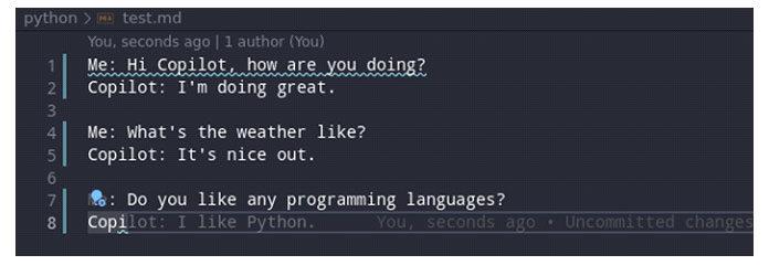 Вау, похоже, Copilot очень любит Python, иятоже