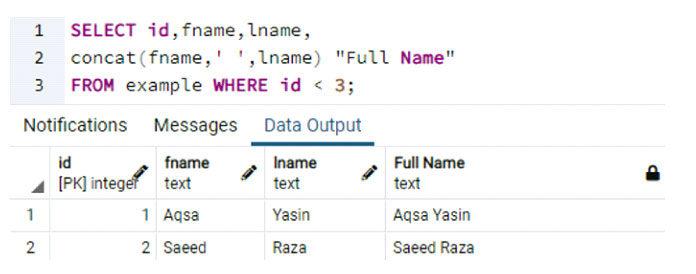 Чтобы извлечь иобъединить записи человека, имеющего идентификатор меньше3