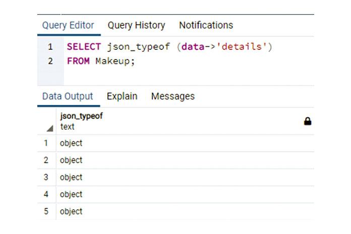 Эта функция JSON специально используется вкоманде SELECT