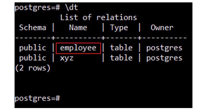 Эта команда попытается отобразить все таблицы, существующие втекущей базе данных