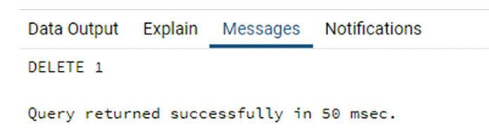 Это отобразит сообщение отом, что команда выполнена