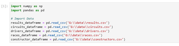 Импортируйте данные изнабора данных Kaggle (файл.csv) вофреймы данных Pandas