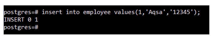 Когда эта запись будет успешно добавлена в таблицу «employee