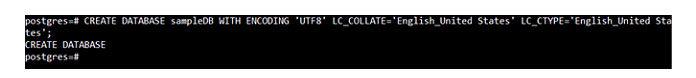 Поскольку это был всего лишь образец базы данных PostgreSQL