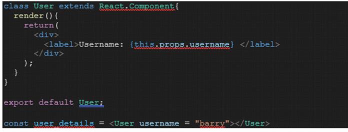 Пример передачи имени пользователя вкачестве аргумента для компонента