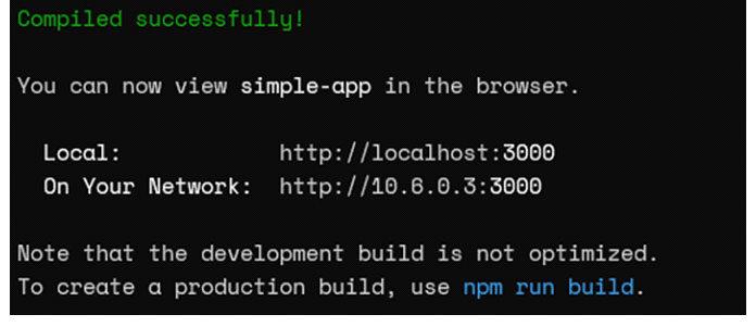Пример приложения React (браузер)