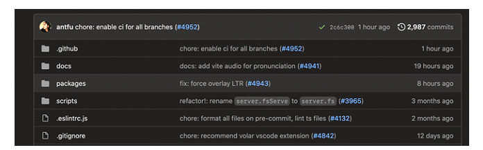 Сначала перейдите настраницу Vite GitHub поадресу github