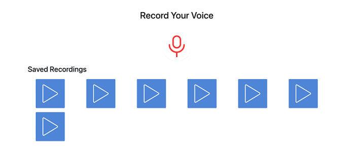 Теперь пользователь может записывать свой голос, сохранять или удалятьих