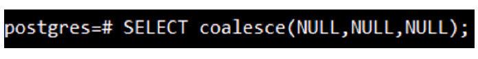 Вэтом запросе мыпередали все нулевые значения вфункцию coalesce
