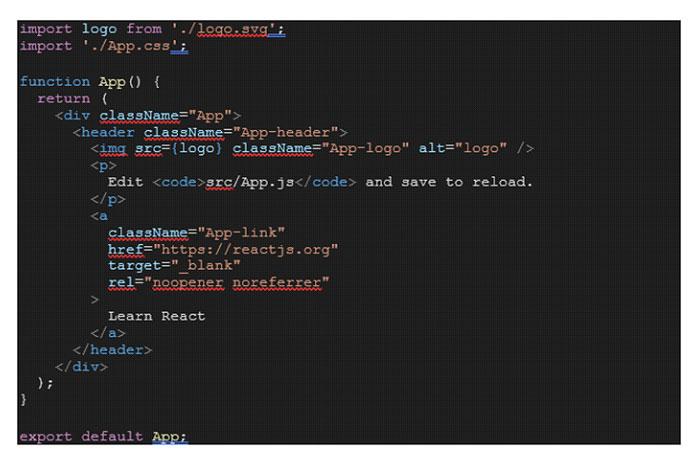 Вприведенном ниже примере блока кода мыимпортируем логотип