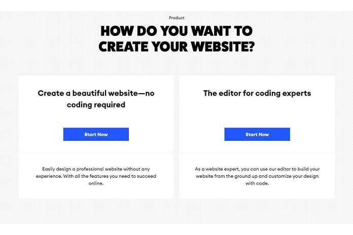 Выможете выбрать веб-сайт без необходимости кодирования
