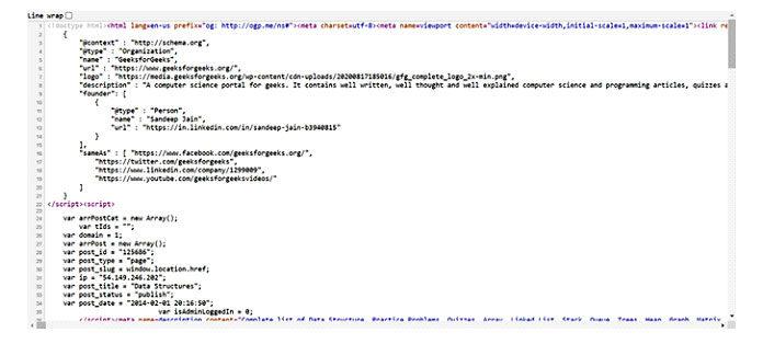 Вы получите следующий исходный код