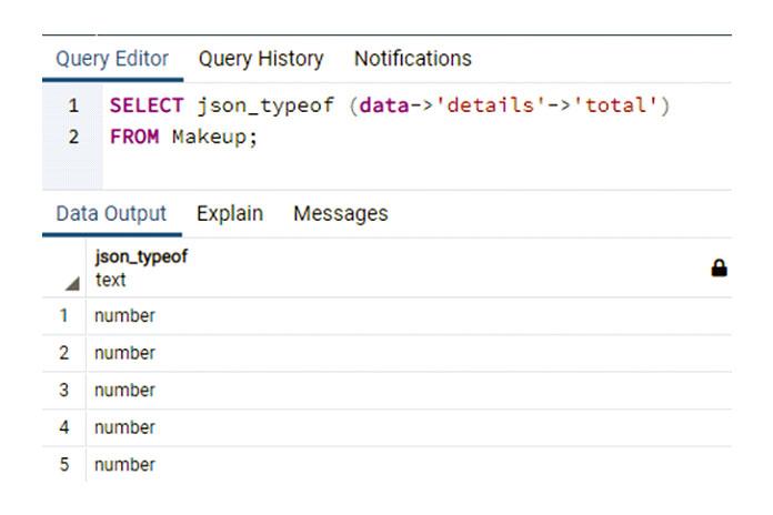 Вытакже можете увидеть тип данных, которые есть улюбого объекта