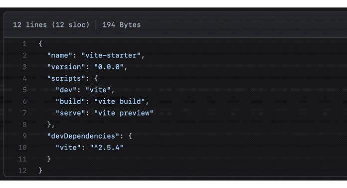 json файлы из шаблона Vue и ванильного шаблона