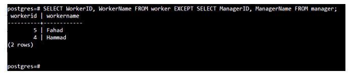 Этот запрос отобразит все записи изтаблицы «worker»