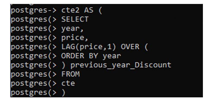 Третья инструкция «select» возьмет запаздывающую сумму