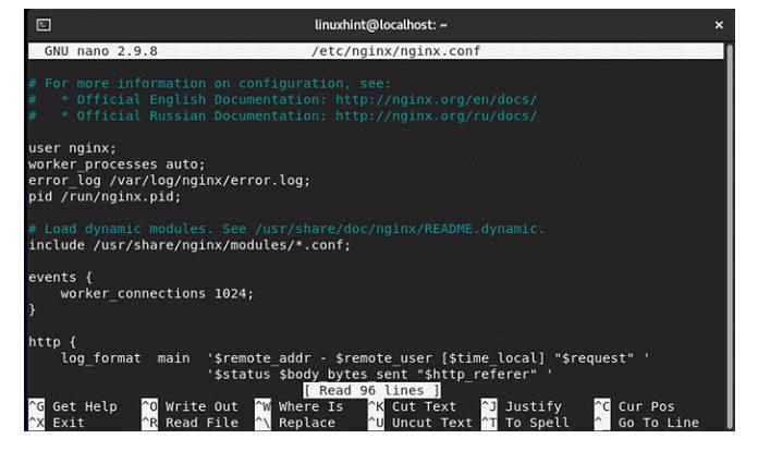 Ваш файл конфигурации Nginx