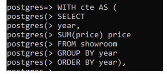 Вторая команда «cte2» похожа навторую команду выбора