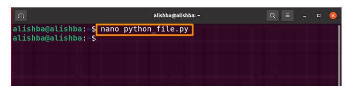 Выполните указанную ниже команду, чтобы создать «python