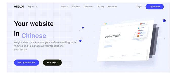 Weglot— это плагин WordPress, который позволяет вам переводить