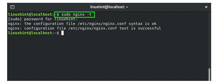 для проверки файла конфигурации иего синтаксиса